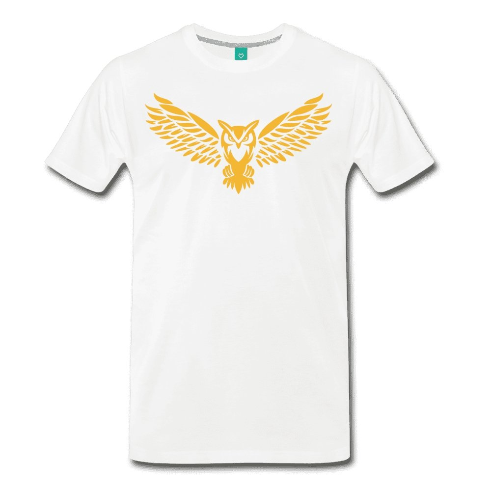 Men's Premium T-Shirt NEBU OWL LOGO TEE - Men's - Neter Gold white / M