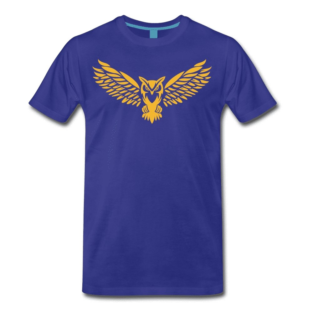 Men's Premium T-Shirt NEBU OWL LOGO TEE - Men's - Neter Gold royal blue / M
