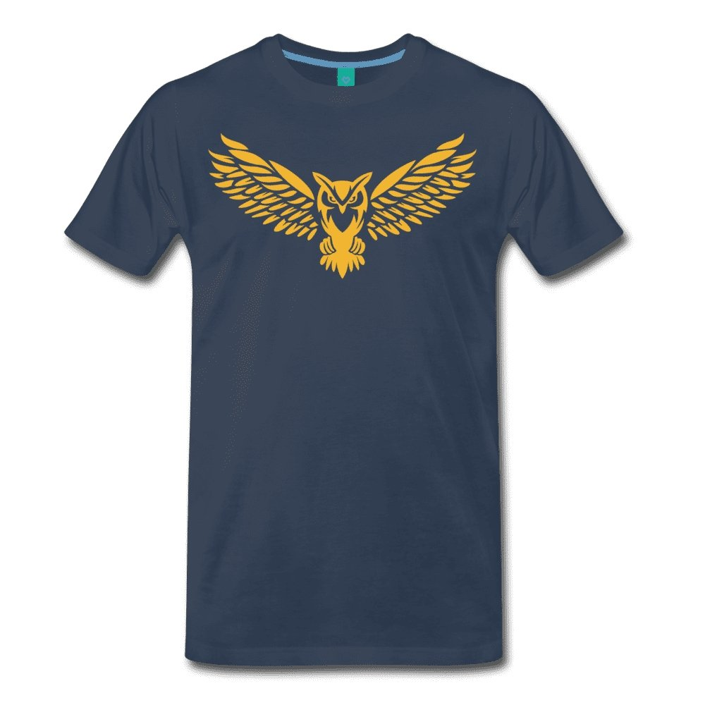 Men's Premium T-Shirt NEBU OWL LOGO TEE - Men's - Neter Gold navy / M