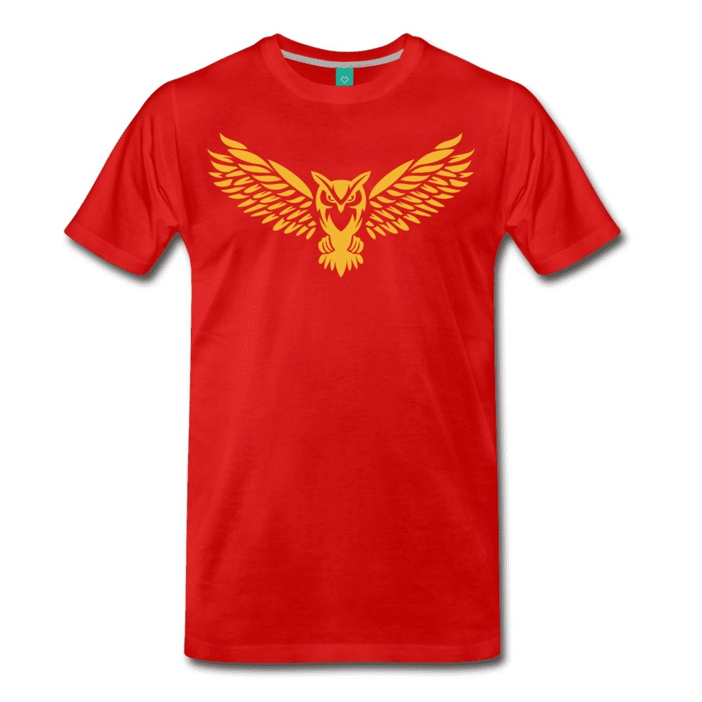Men's Premium T-Shirt NEBU OWL LOGO TEE - Men's - Neter Gold red / M