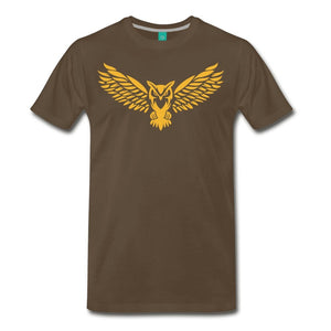 Men's Premium T-Shirt NEBU OWL LOGO TEE - Men's - Neter Gold noble brown / M