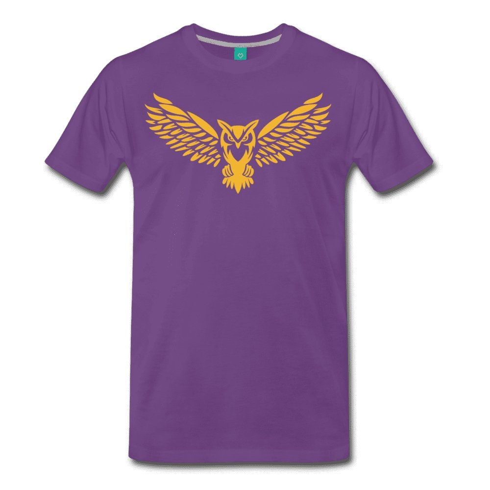 Men's Premium T-Shirt NEBU OWL LOGO TEE - Men's - Neter Gold purple / M