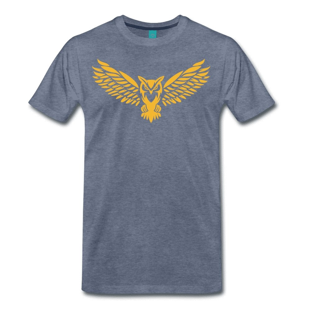 Men's Premium T-Shirt NEBU OWL LOGO TEE - Men's - Neter Gold heather blue / M