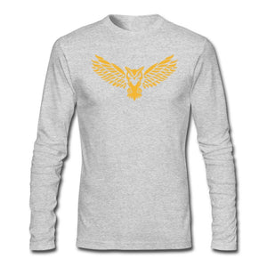 NEBU Owl - Men's Long Sleeve T-Shirt - Neter Gold