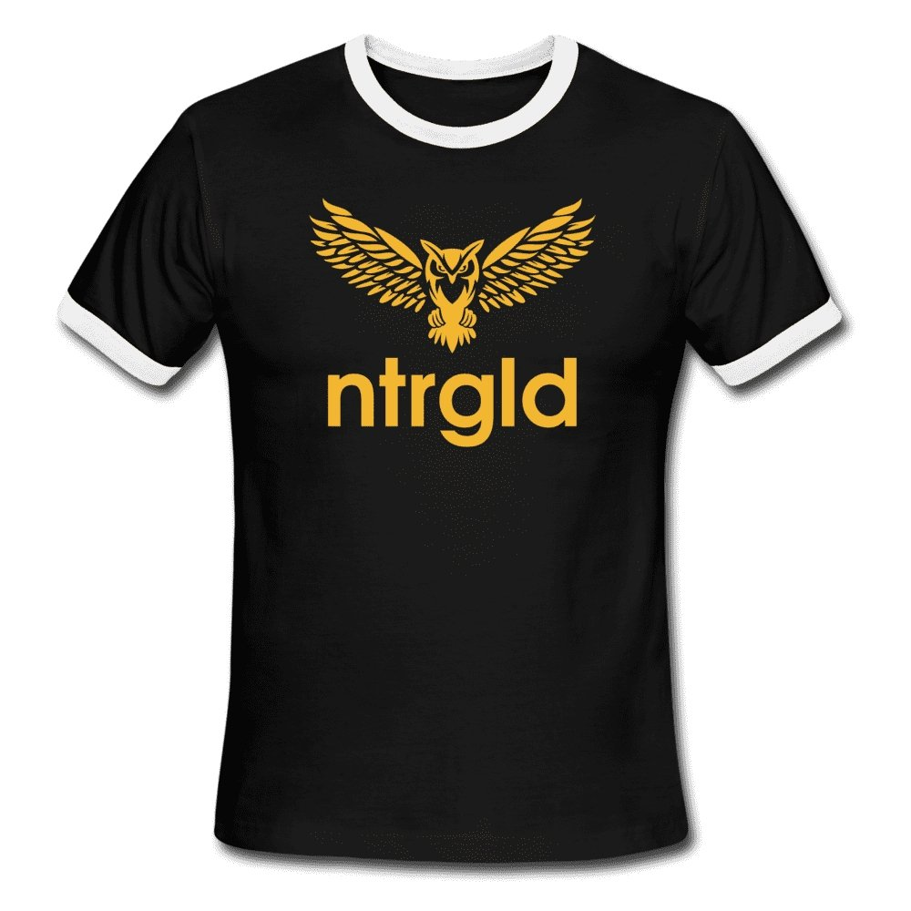 NEBU OWL - Men's Ringer T-Shirt - Neter Gold