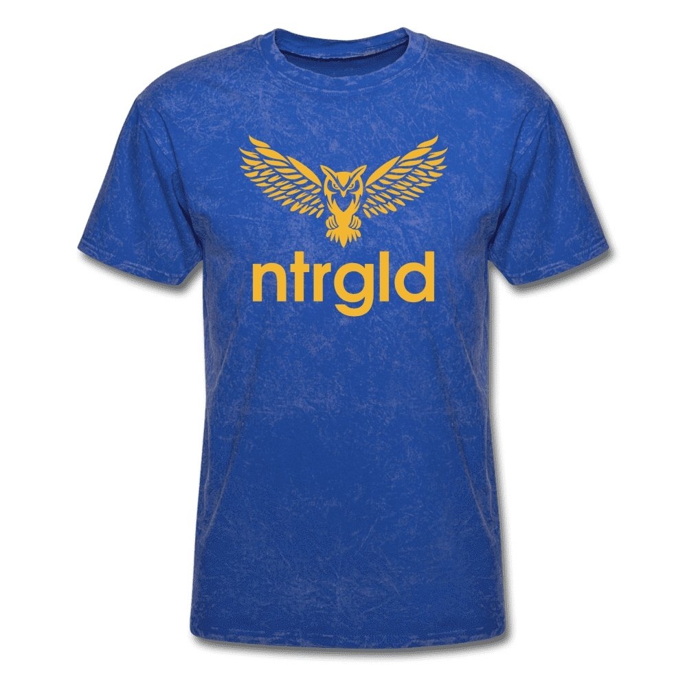 Men's T-Shirt NEBU OWL - Men's T-Shirt - Neter Gold mineral royal / L