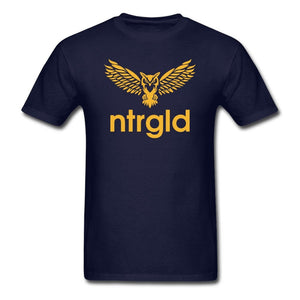 Men's T-Shirt NEBU OWL - Men's T-Shirt - Neter Gold navy / L