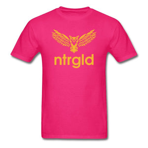 Men's T-Shirt NEBU OWL - Men's T-Shirt - Neter Gold fuchsia / L