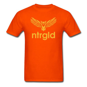 Men's T-Shirt NEBU OWL - Men's T-Shirt - Neter Gold orange / L