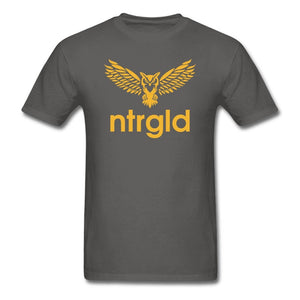 Men's T-Shirt NEBU OWL - Men's T-Shirt - Neter Gold charcoal / M