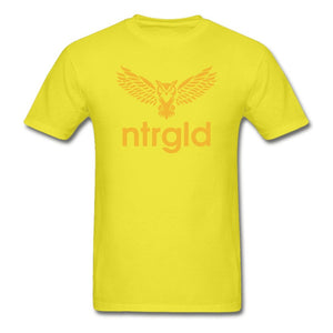 Men's T-Shirt NEBU OWL - Men's T-Shirt - Neter Gold yellow / L