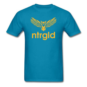 Men's T-Shirt NEBU OWL - Men's T-Shirt - Neter Gold turquoise / M