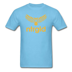 Men's T-Shirt NEBU OWL - Men's T-Shirt - Neter Gold aquatic blue / L