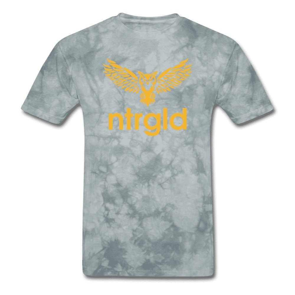 Men's T-Shirt NEBU OWL - Men's T-Shirt - Neter Gold grey tie dye / L