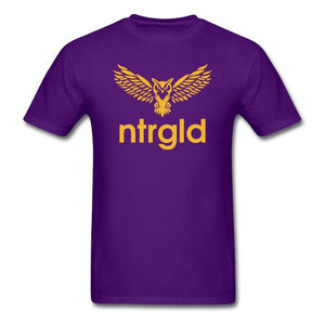 Men's T-Shirt NEBU OWL - Men's T-Shirt - Neter Gold purple / M