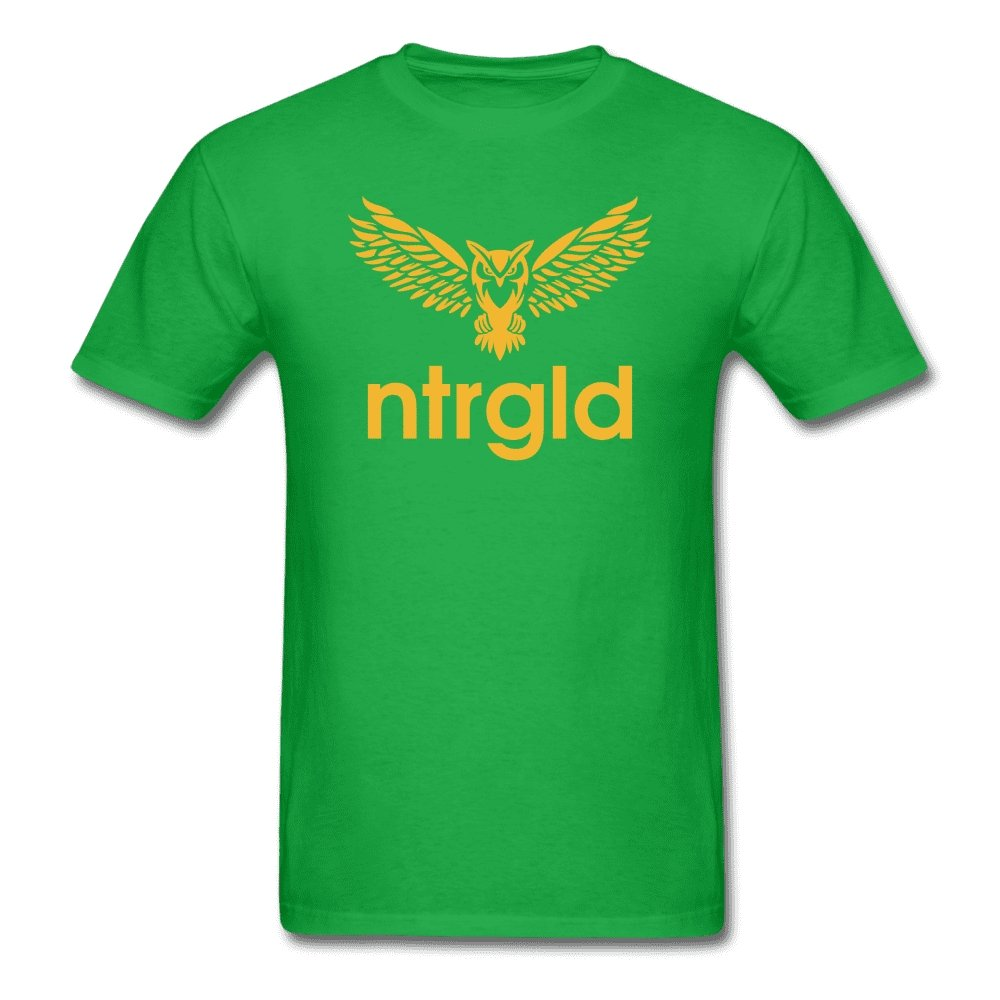Men's T-Shirt NEBU OWL - Men's T-Shirt - Neter Gold bright green / L
