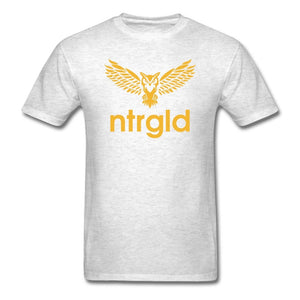 Men's T-Shirt NEBU OWL - Men's T-Shirt - Neter Gold light heather grey / M