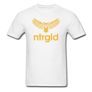 Men's T-Shirt NEBU OWL - Men's T-Shirt - Neter Gold white / L