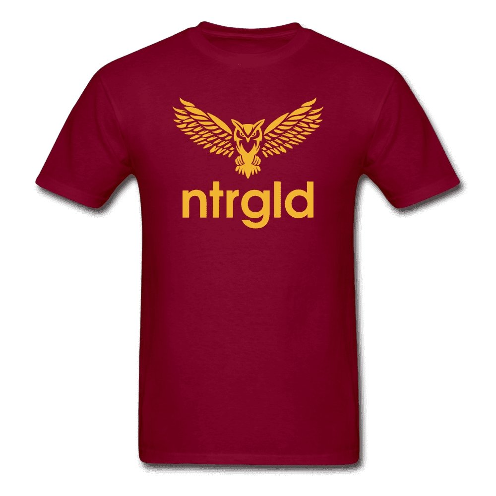 Men's T-Shirt NEBU OWL - Men's T-Shirt - Neter Gold burgundy / M