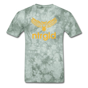 Men's T-Shirt NEBU OWL - Men's T-Shirt - Neter Gold military green tie dye / L