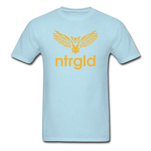 Men's T-Shirt NEBU OWL - Men's T-Shirt - Neter Gold powder blue / L