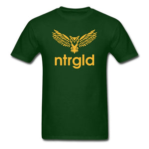 Men's T-Shirt NEBU OWL - Men's T-Shirt - Neter Gold forest green / L