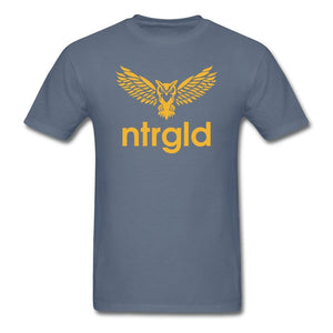 Men's T-Shirt NEBU OWL - Men's T-Shirt - Neter Gold denim / M