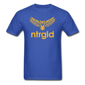 Men's T-Shirt NEBU OWL - Men's T-Shirt - Neter Gold royal blue / L