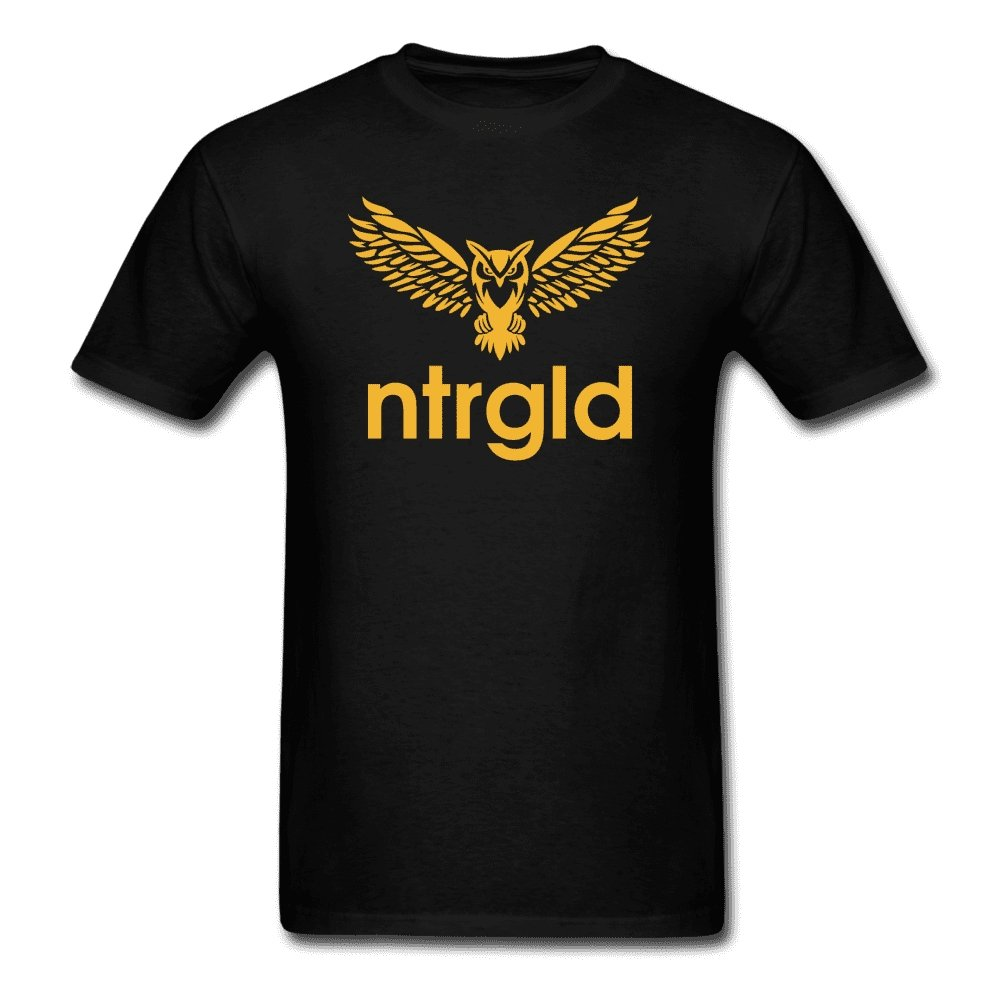 Men's T-Shirt NEBU OWL - Men's T-Shirt - Neter Gold black / XL