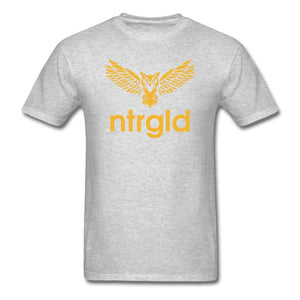 Men's T-Shirt NEBU OWL - Men's T-Shirt - Neter Gold heather gray / M