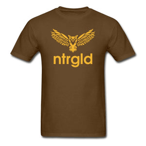 Men's T-Shirt NEBU OWL - Men's T-Shirt - Neter Gold brown / L