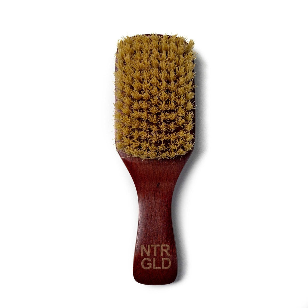 No-Kill Hair Brush w/ Handle - Halal | Kosher | Vegan - Neter Gold - NTRGLD - NETER GOLD - All natural body care products designed to increase your natural godly glow. - hair growth - eczema - dry skin