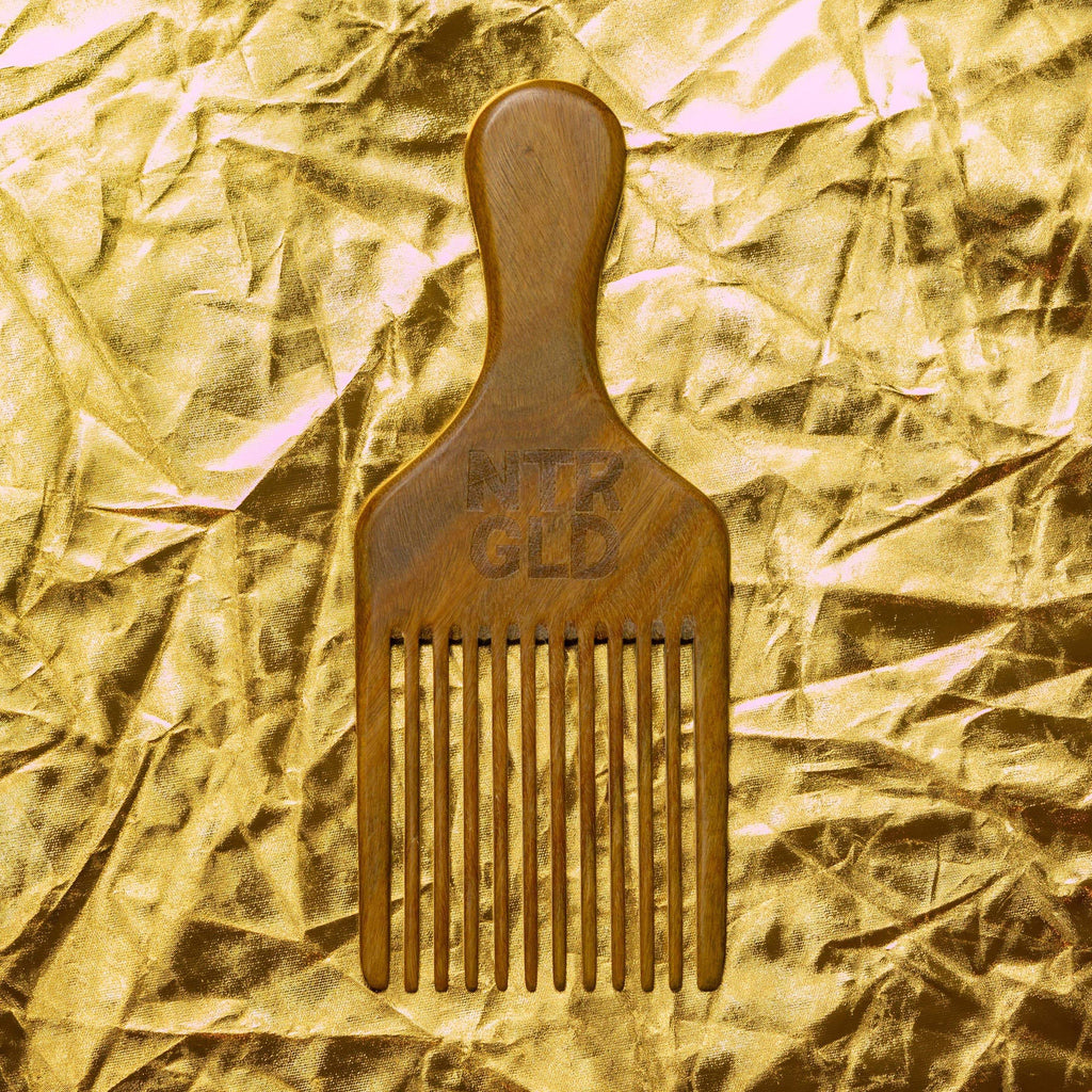 Perfectly Imperfect - Afro Power Pick Comb - Neter Gold - NTRGLD