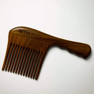 Perfectly Imperfect - Epic Ass Jumbo Wooden Comb - Neter Gold