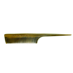 Fine-tooth Rat-tail Wooden Comb - Neter Gold