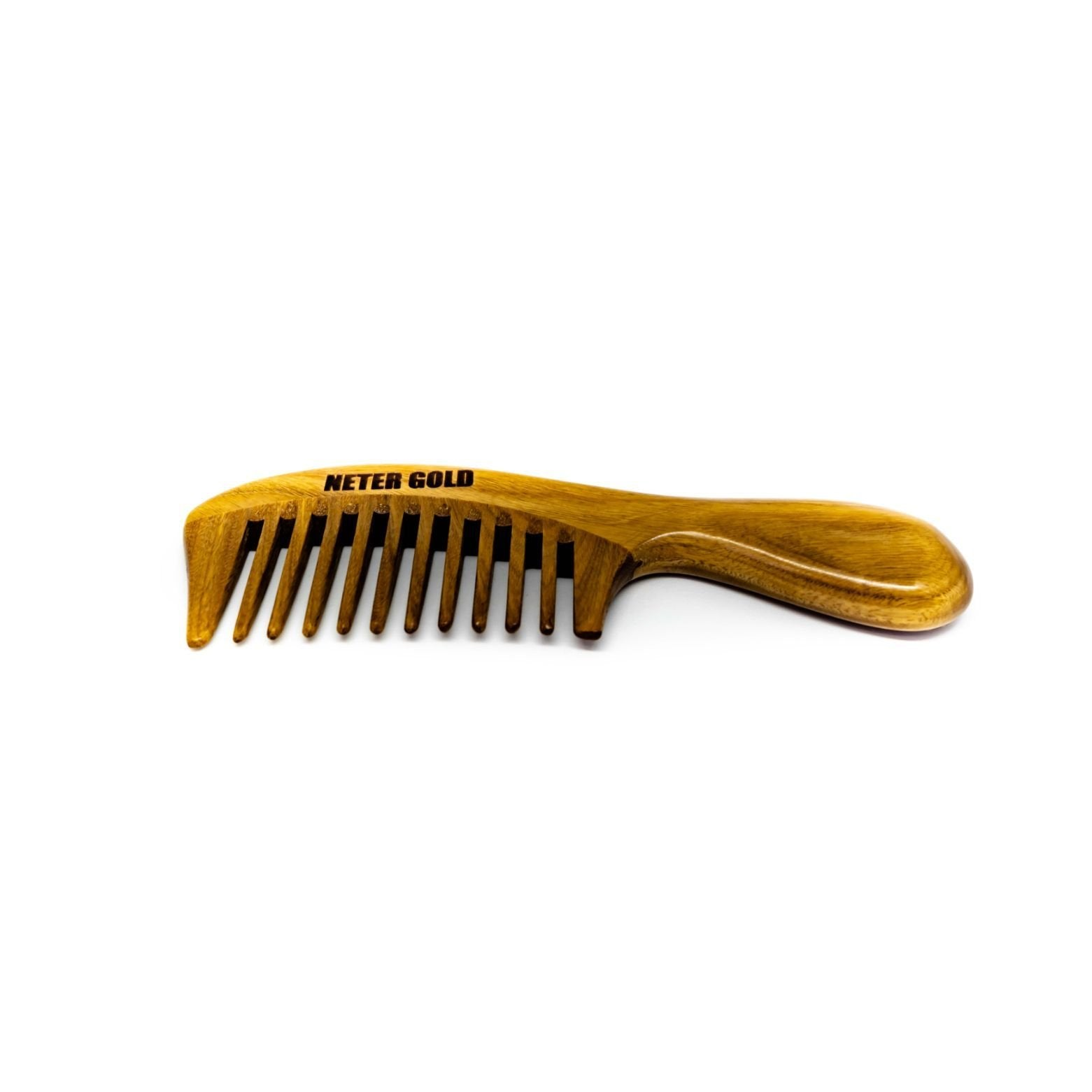 Semi Wide-tooth Detangling Comb - Neter Gold - NTRGLD - NETER GOLD - All natural body care products designed to increase your natural godly glow. - hair growth - eczema - dry skin