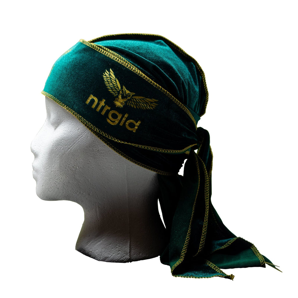 Velvet Durag - Emerald Green - Neter Gold - NTRGLD - NETER GOLD - All natural body care products designed to increase your natural godly glow. - hair growth - eczema - dry skin