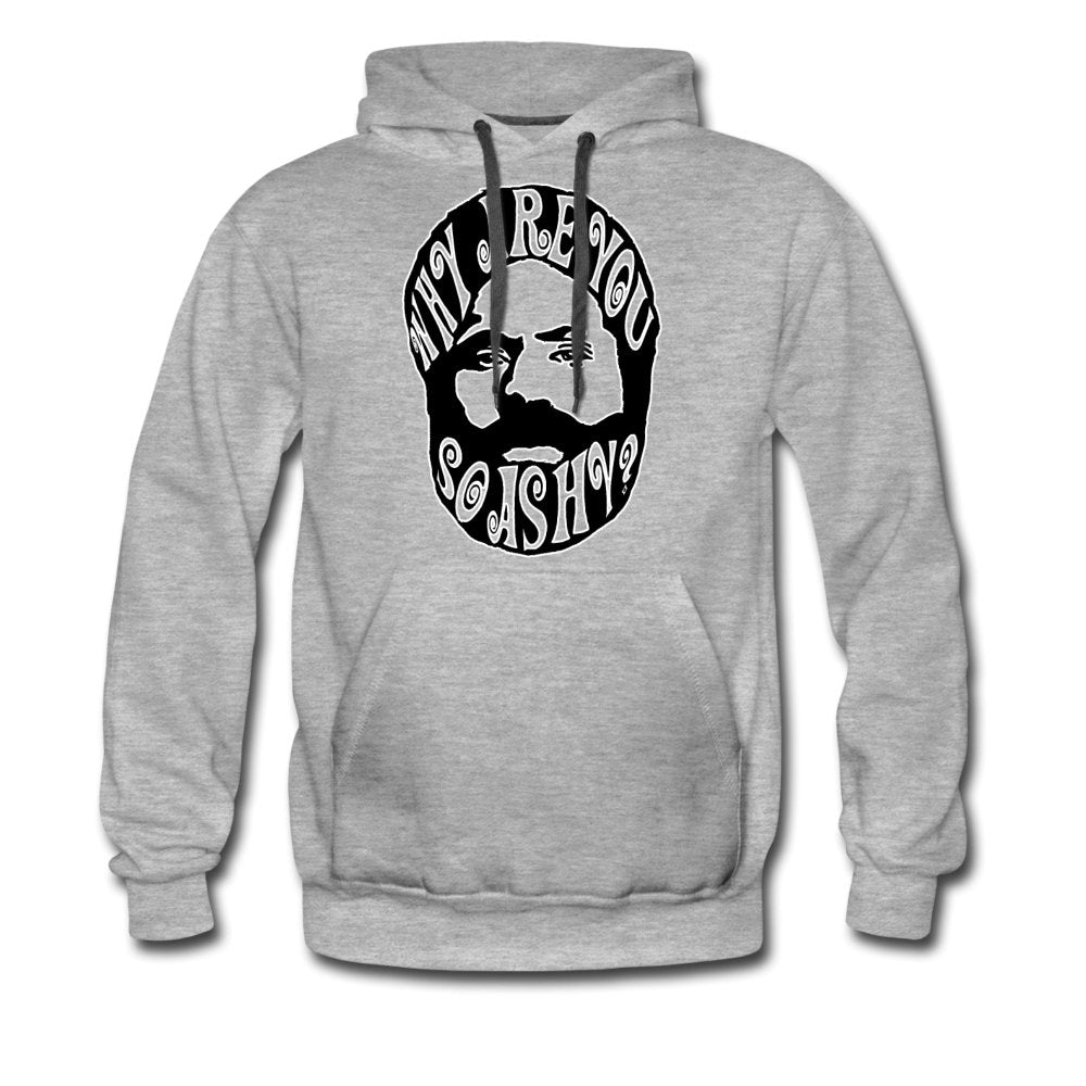 Men's Premium Hoodie | Spreadshirt 20 Why Are You So Ashy? - Men's Premium Hoodie - Neter Gold - heather gray / S - NTRGLD