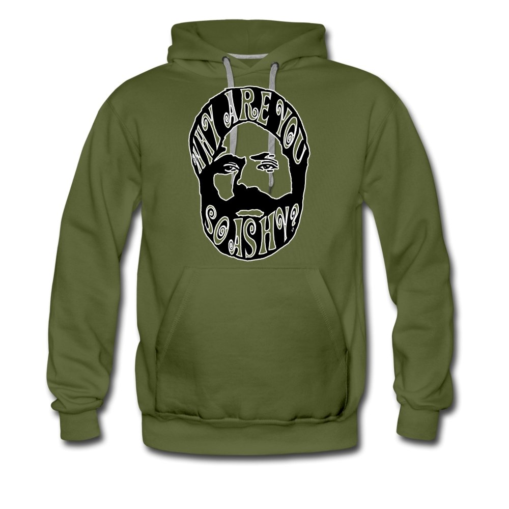 Men's Premium Hoodie | Spreadshirt 20 Why Are You So Ashy? - Men's Premium Hoodie - Neter Gold olive green / S