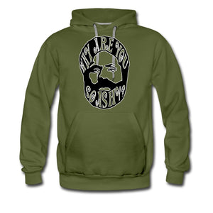 Men's Premium Hoodie | Spreadshirt 20 Why Are You So Ashy? - Men's Premium Hoodie - Neter Gold - olive green / S - NTRGLD