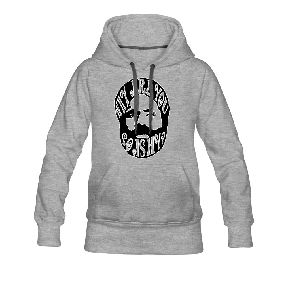 Women's Premium Hoodie | Spreadshirt 444 Why Are You So Ashy? - Women's Premium Hoodie - Neter Gold - heather gray / S - NTRGLD