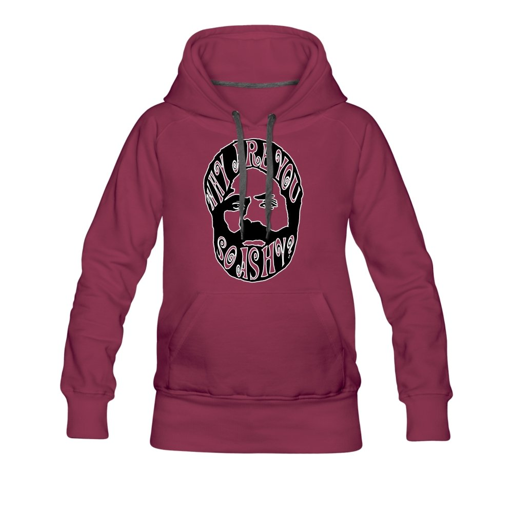 Women's Premium Hoodie | Spreadshirt 444 Why Are You So Ashy? - Women's Premium Hoodie - Neter Gold - burgundy / S - NTRGLD