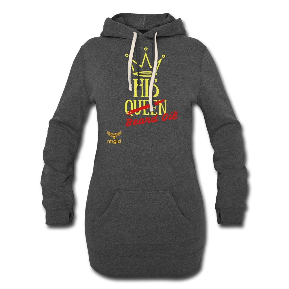 Women's Hoodie Dress | Independent Trading PRM65DRS Women's Hoodie Dress - Neter Gold - heather black / S - NTRGLD