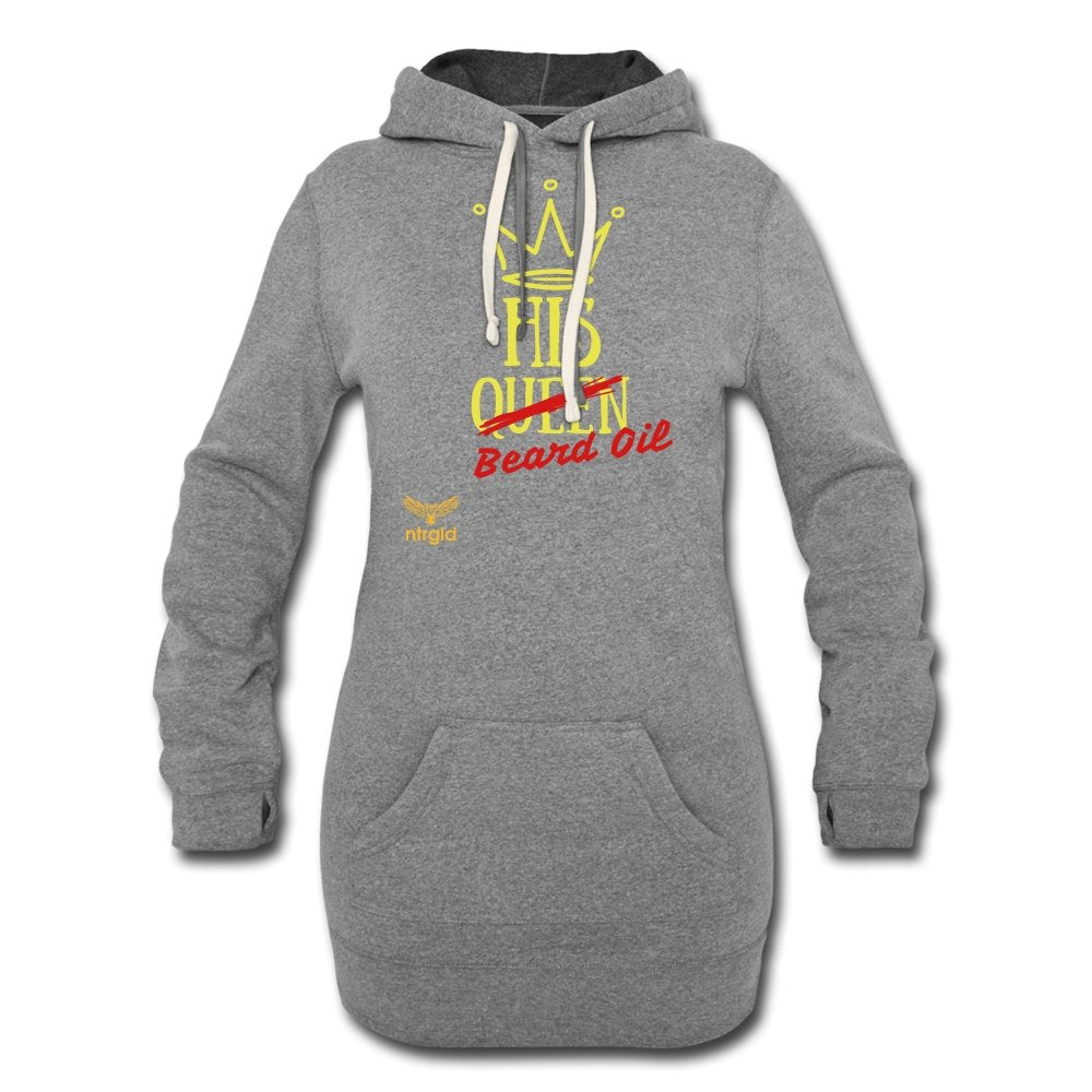 Women's Hoodie Dress | Independent Trading PRM65DRS Women's Hoodie Dress - Neter Gold - heather gray / S - NTRGLD
