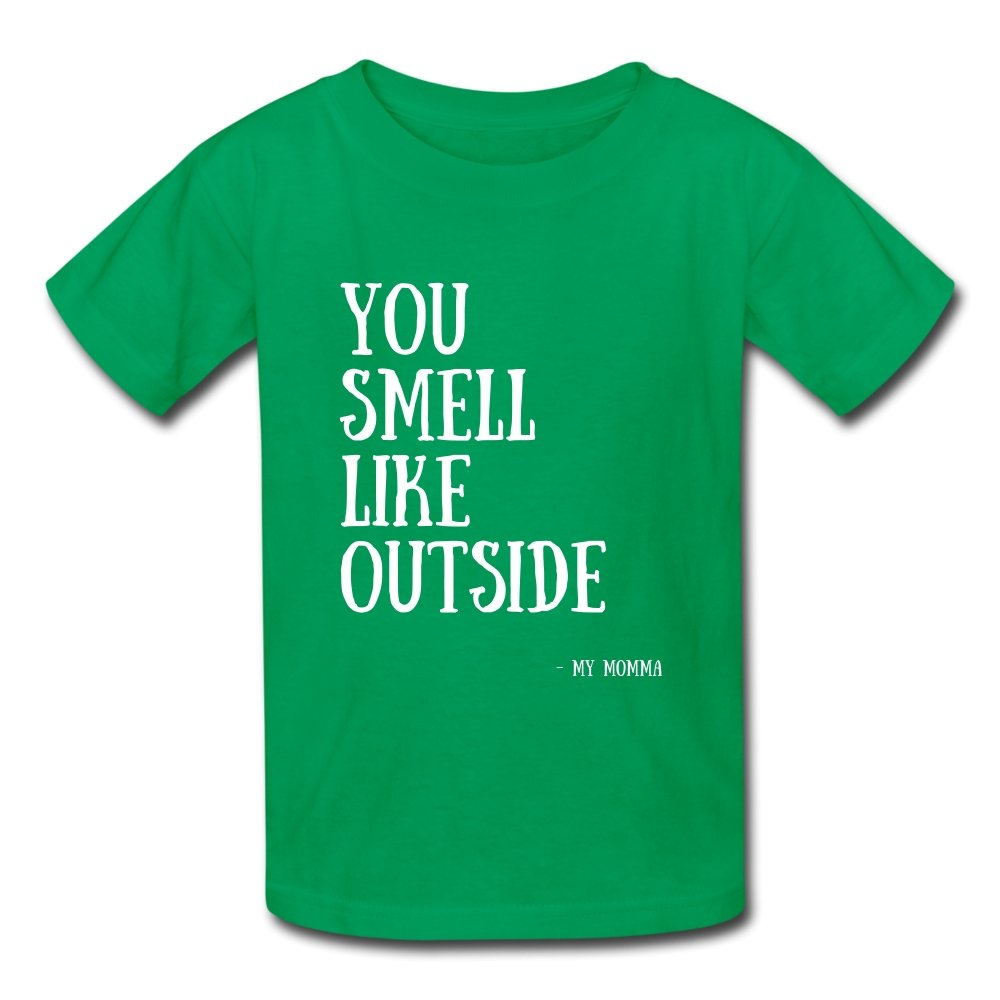 Kids' T-Shirt You Smell Like Outside - Kids' T-Shirt - Neter Gold - NTRGLD