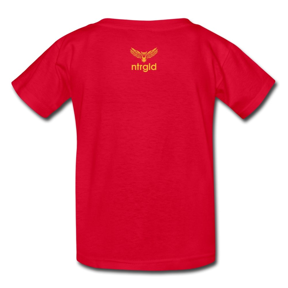 Kids' T-Shirt You Smell Like Outside - Kids' T-Shirt - Neter Gold - red / S - NTRGLD