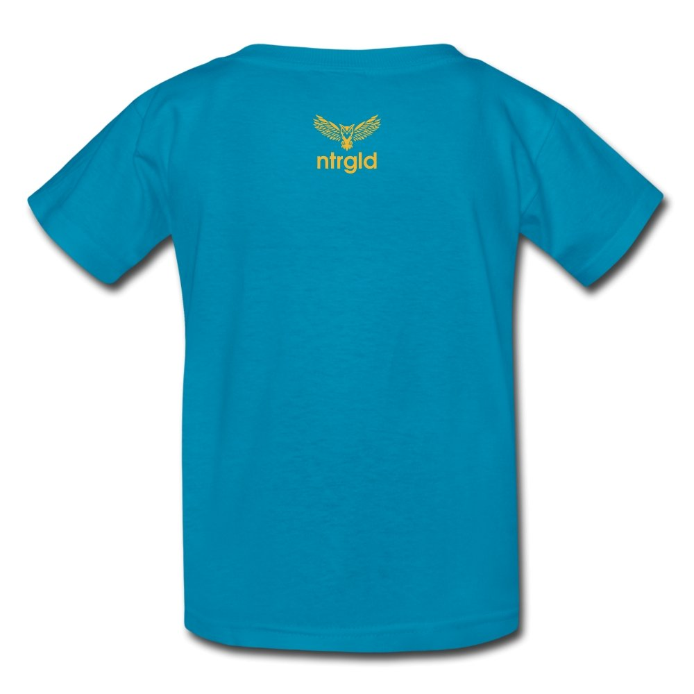 Kids' T-Shirt You Smell Like Outside - Kids' T-Shirt - Neter Gold - turquoise / S - NTRGLD