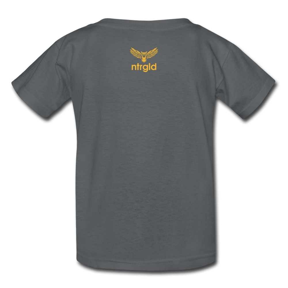 Kids' T-Shirt You Smell Like Outside - Kids' T-Shirt - Neter Gold - charcoal / S - NTRGLD