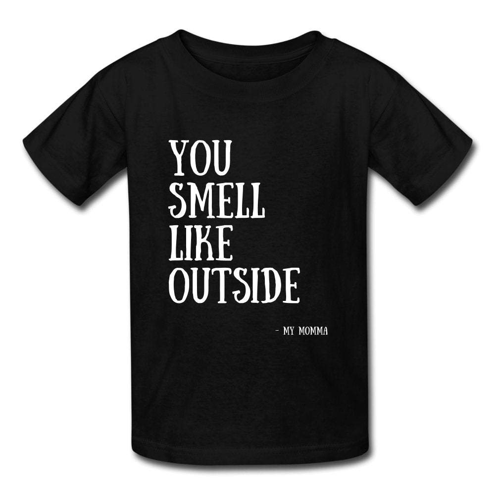 You Smell Like Outside - Kids' T-Shirt - Neter Gold