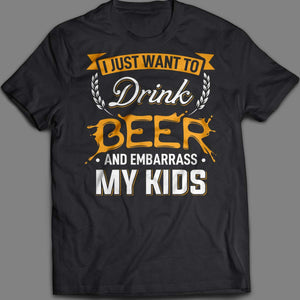 Drink Beer Mens Tee